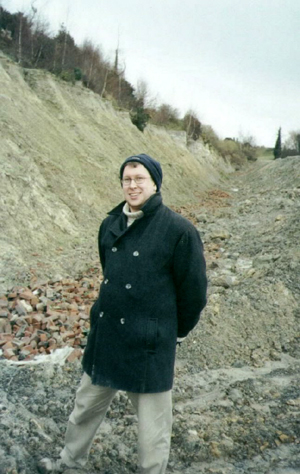 The author, in the field.